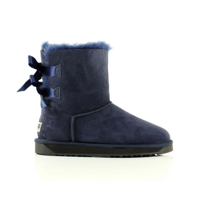 UGG Double Bow Boots Short - Navy Blue