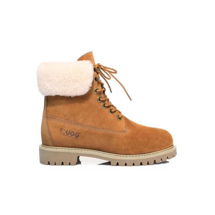 UGG Suede Front Lace Up Boots